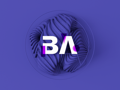 BA Agency type typography mockup logo logotype abstract 3d 3d art brand brand identity brand design agency landing page agency website