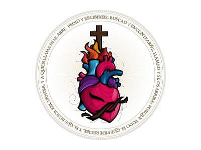 Sagrado Corazon webgrafico mexico aguascalientes colunga miguel adobe illustrator corazon ilustracion diseño