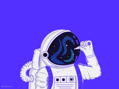 Draw a Dream graphicdesign graphic adobe illustrator dreams dream astronomy artist art astronaut astro ui vector logo design logo designer logo creative character illustrator design illustration