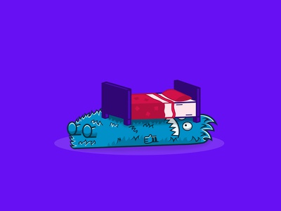 Don't Give Up Yet bedroom bedtime monsters dont give up inspiration motivation purple drawing monster ui branding vector funny creative design illustrator character illustration
