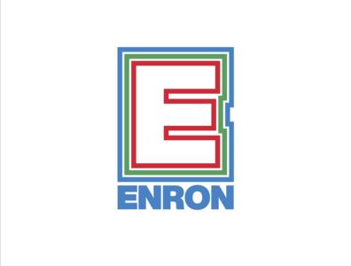 Enron illustrator vector business corporate rebrand redesign design logotype logo design branding logo enron
