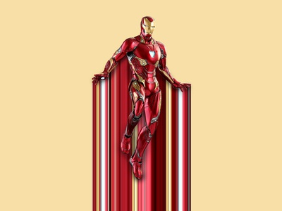 Iron Man Pixel Stretch design photoshop pixel stretch avengers ironman