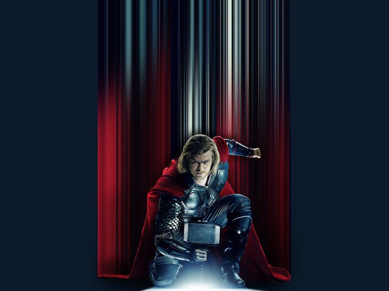 Thor Pixel Stretch marvel joe cavazos photoshop pixel stretch avengers thor