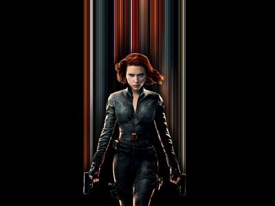 Black Widow Pixel Stretch
