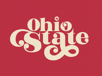 Ohio State type college letters 70s 60s hand lettering typography football ohio state
