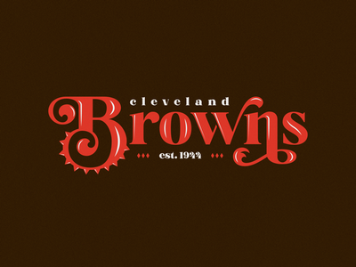 Cleveland Browns football nfl font type hand lettering typography ohio browns cleveland cleveland browns