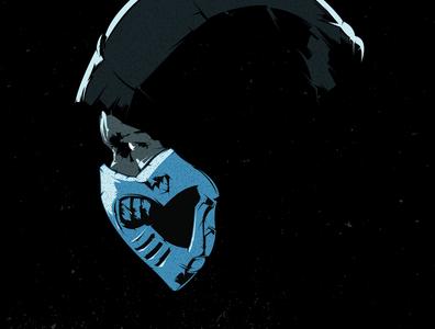 Sub-Zero design illustration illustrator vector mortal kombat subzero