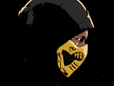 Scorpion design illustration vector illustrator mortal kombat scorpion