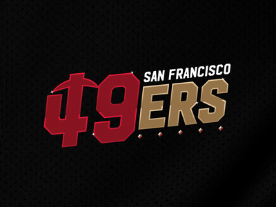 49ers football typography design concept logo nfl 49ers san francisco