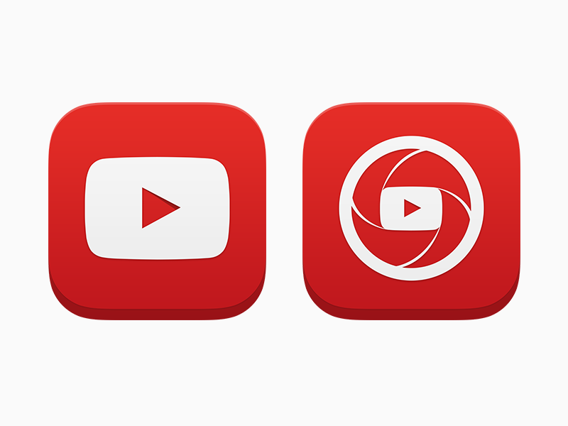YouTube iOS App Icons by Andrew Janich | Dribbble | Dribbble