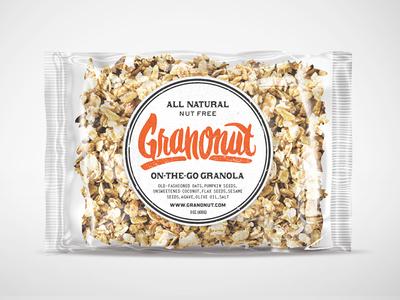 Granola Packaging design logo script pen lettering handmade sketch granola oats packaging
