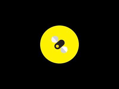 Lightning Bug Logo white yellow black insect light glow bug lightning bug firefly logo illustration design