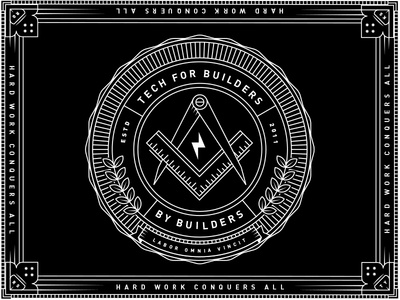 A new thing for my new team logo white black pixels union plangrid illuminati seal illustration design