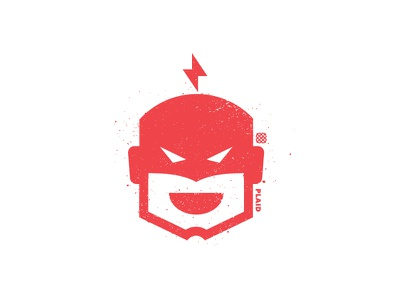 Hero Icon white red superhero hero hack bolt icon illustration design