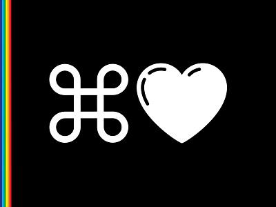 Plaid Pride lgbtq pride heart love command icon design