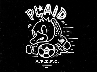 Plaid Soccer Platypus - APIFC sports football platypus soccer texture hand-drawn drawing character