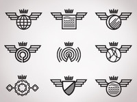 Variable logo set