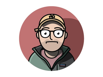 Nagy Portrait yankees person glasses self portrait charicature portrait design cute cartoon illustration