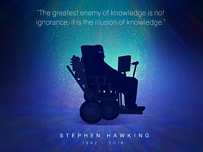 Stephen Hawking tribute stephenhawking cosmos universe space scientist