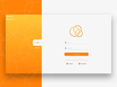 Orange Login Page