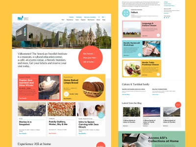 American Swedish Institute Website institute swedish architecture typography interface design minneapolis museum branding web design ui