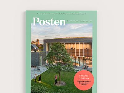 Posten Cover Design branding swedish minneapolis museum typography graphic design print