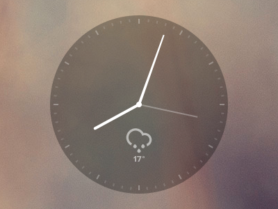 Minimal Clock Widget minimal clock widget transparent black weather time climacons css browser web webdesign live