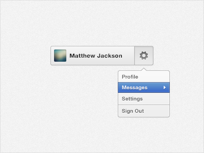 User Button user button buttons menu dropdown freebie psd rebound profile white blue settings