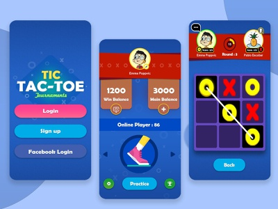 Tic Tac Toe Game Design gameui multiplayer art logo casual game design icons ui game app
