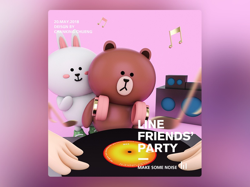 0c5913eb5cd Line Friends Poster By Chankingcheung Dribbble Dribbble
