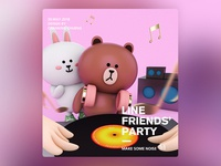 Line Friends Poster