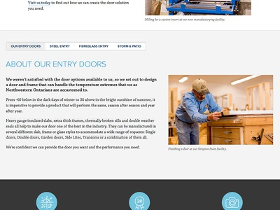 Northern Window & Door / Sub Page Detail web website responsive gray blue