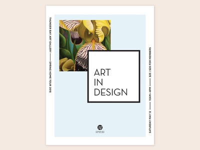 'Art In Design' Direction poster iris flowers spring yellow concept wip