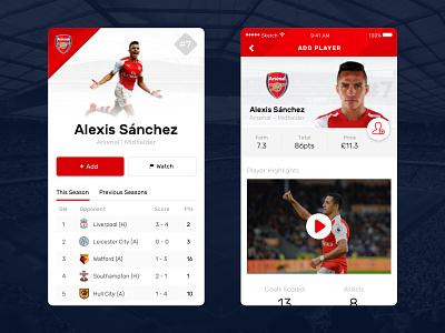 Daily UI #6 – User Profile daily ui user profile app mobile ios arsenal soccer football player profile profile