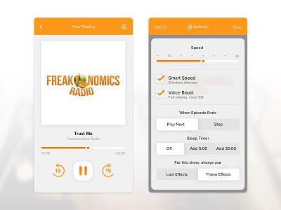 Daily UI #7 – Settings ui app mobile ios settings podcast daily ui