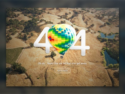 Daily UI #8 – 404 error page balloon hot air 404 ui daily ui