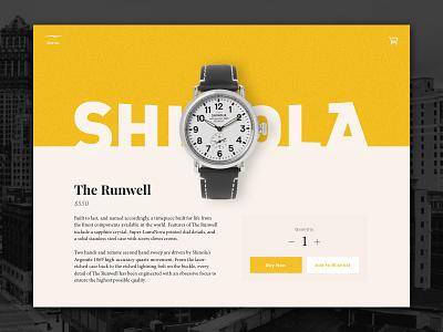 Daily UI #12 – Single Product v2 daily ui single product product store cart watch shinola