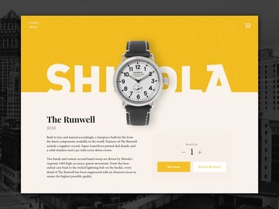 Daily UI #12 – Single Product v2 daily ui single product product store cart watch shinola