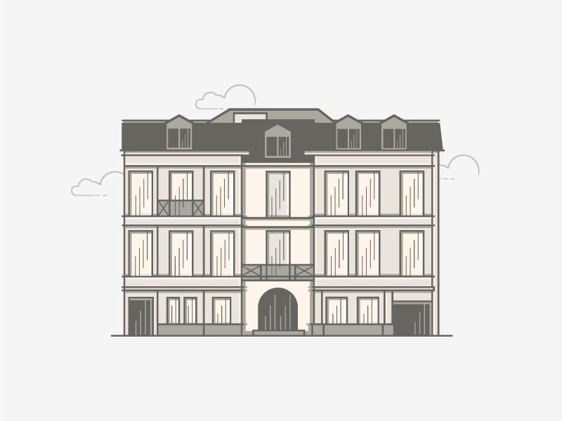 VAN DE PUT line architecture appealing bank logotype gray atrokhau crisp logo simple minimal building