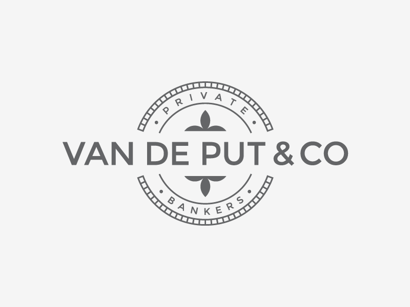 VAN DE PUT typo bank lettering logotype typography gray atrokhau circle crisp logo simple minimal