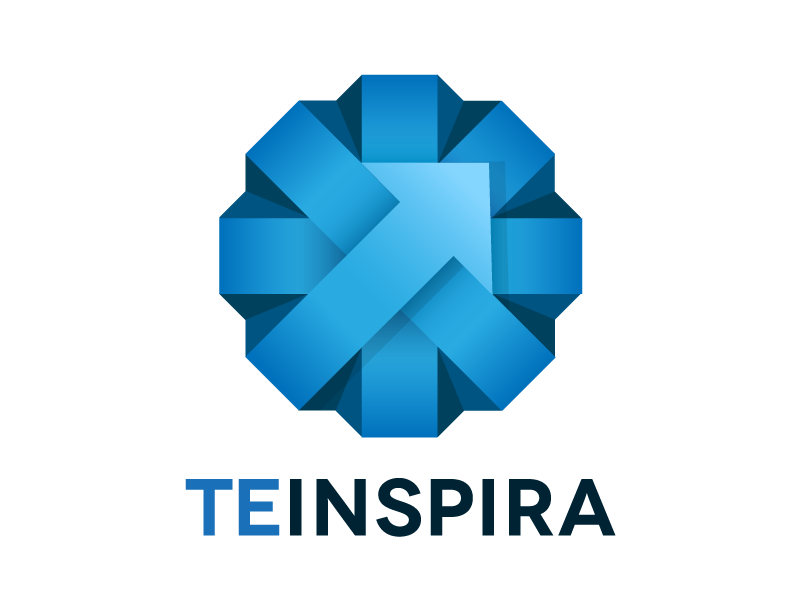 TEINSPIRA minimal simple logo crisp circle atrokhau logotype clean blue flat flat ui pro minimalist