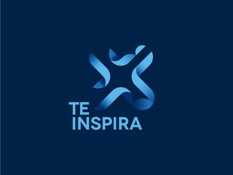 TEINSPIRA minimalist flat ui pro flat blue clean logotype atrokhau circle crisp logo simple minimal