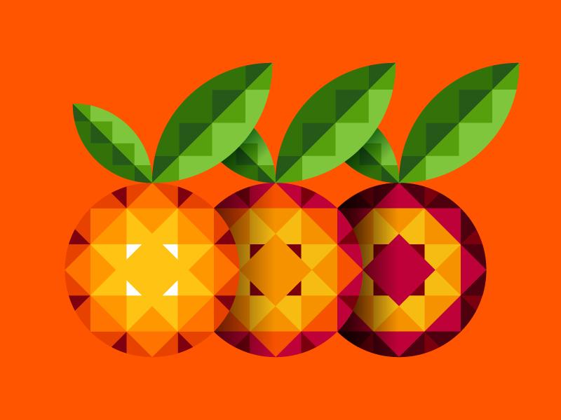 ONE TEAM atrokhau crisp orange design minimalist clean minimal simple geometry flat logo fruit