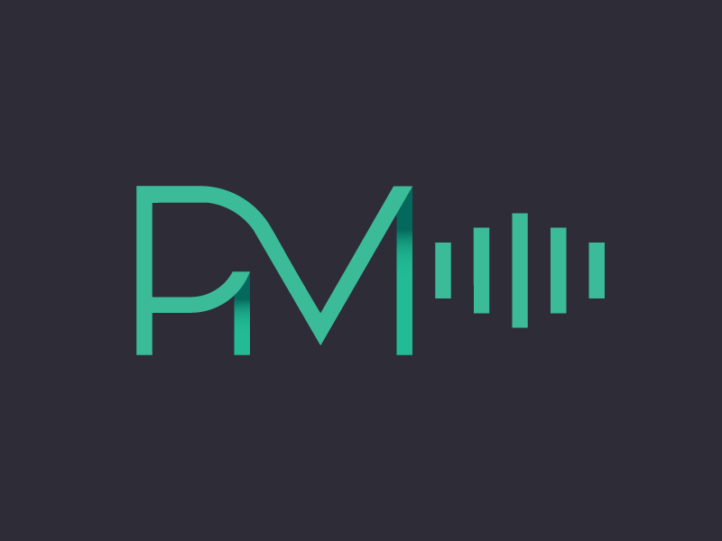 PM atrokhau crisp design minimalist clean minimal simple flat logo geometry type typography