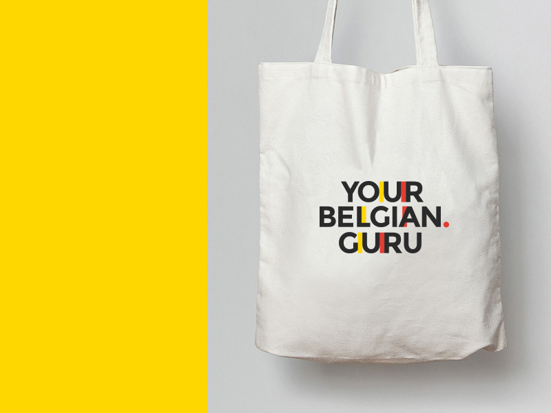 Your Belgian Guru belgium typography type logo flat simple minimal clean minimalist design crisp atrokhau