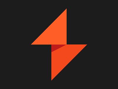 Winamp triangle geometric orange flat winamp