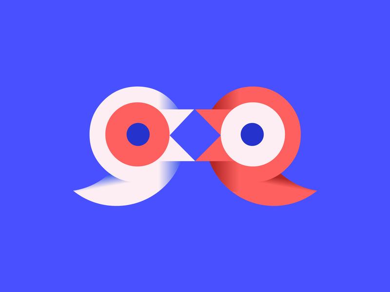 Smart sparrows vector illustration blue colorful minimalist color colors concept branding geometric flat simple minimal crisp digital creative logo design clean atrokhau