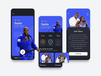 Irys - Athletes Profile UI mobile sports sport olympic olympic games application webdesign ux uiux userinterface ui interface ui interface design app design app