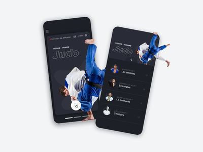 Irys - Sport Selection UI paris2024 olympics cards list design judo gymnastic fencing sport app sports application interface uiux ui mobile ui mobile app design app