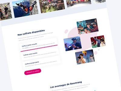 Boomrang - Landing Page Animation uiux web uidesign ui design landing page animated ux landing design ui animation
